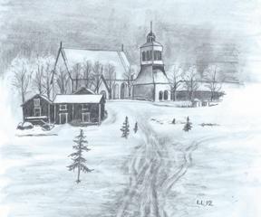 Kalix kyrka vinter